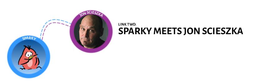 Sparky meets Jon Scieszka