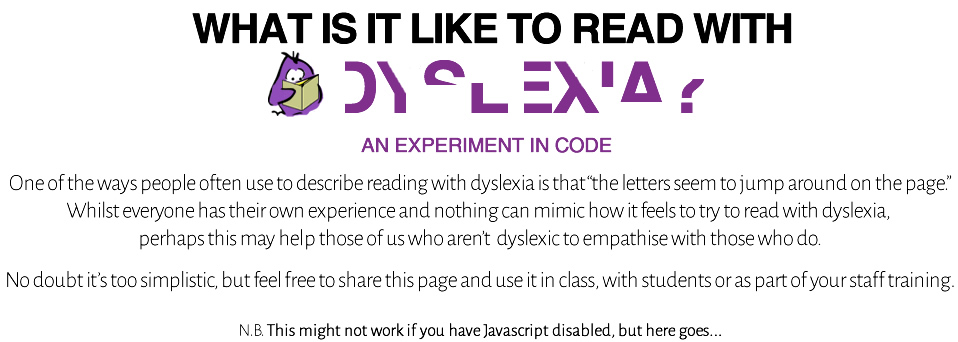What is it like to read with dyslexia?