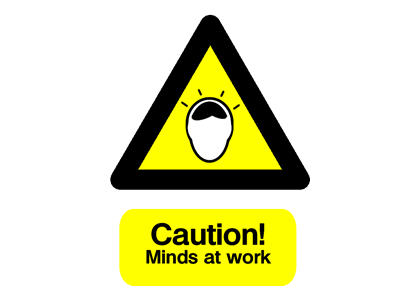 Caution! Minds at work