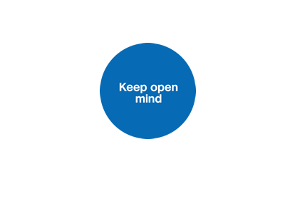 Keep open mind