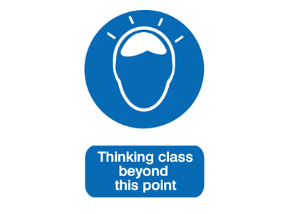 Thinking class beyond this point