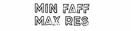 Min Faff Max Res